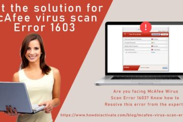 McAfee virus scan error 1603