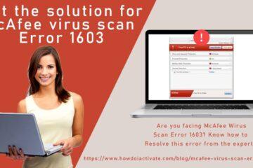 McAfee virus scan error 1603